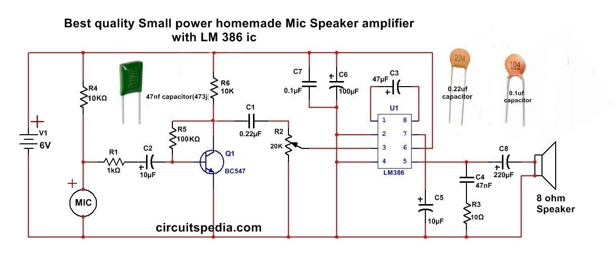 How to make Audio power Amplifier Circuit - Electronic Projects  Design/Ideas - Electronics-Lab.com CommunityElectronics-Lab