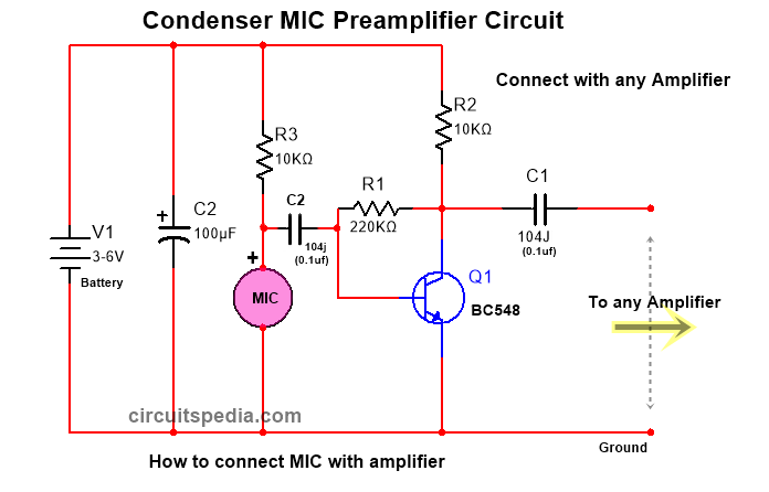 How to connect Condenser microphone with any amplifier - Electronic  Projects Design/Ideas - Electronics-Lab.com CommunityElectronics-Lab
