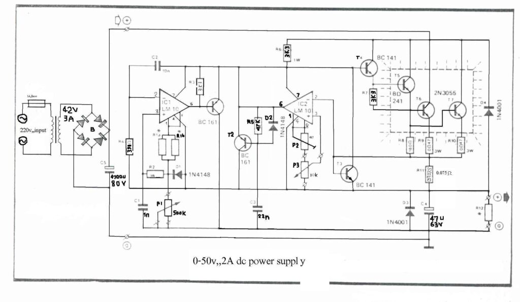 0-50V 2A Bench power supply