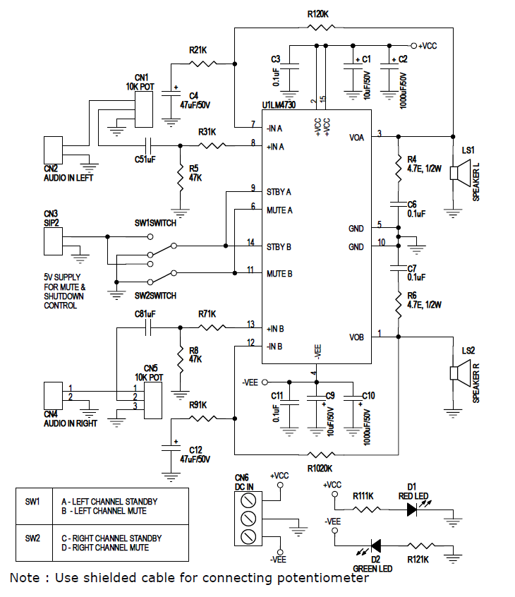 14W_Audio_Amplifier_Schematic
