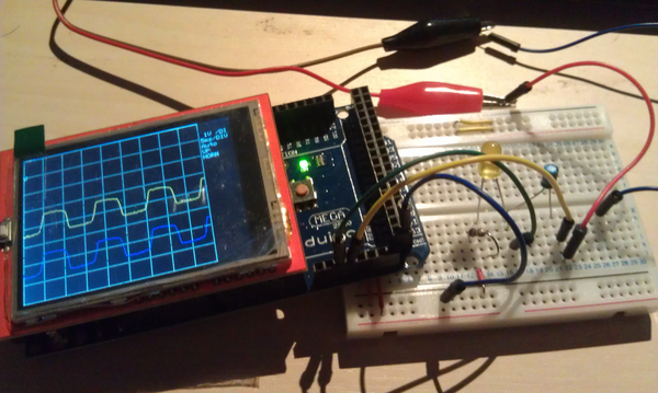 A simple DIY Oscilloscope with Arduino Uno and Mega