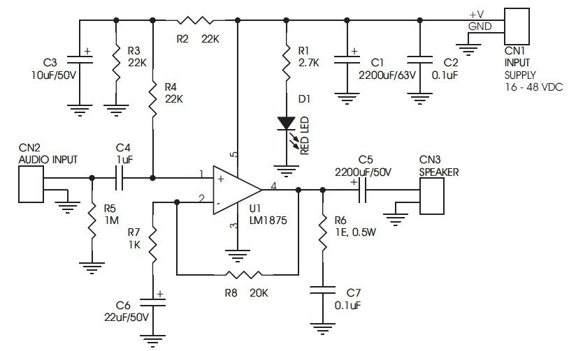 20w audio amplifier