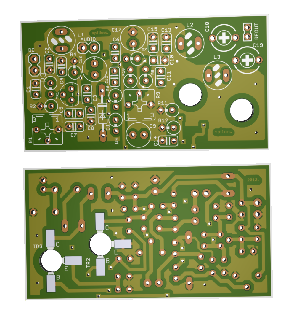 Fm Vco Transmitter Electronics Lab Electronic Circuit Jammer 3d Pcb