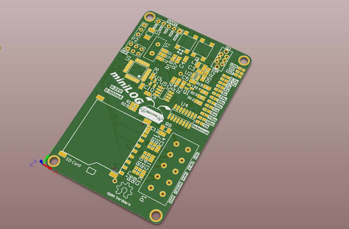 Minilog Precision Standalone Voltage Logger Electronics Lab Homemade 100 Hp Motor Controller For An Electric Car Electronicslab 3d Front
