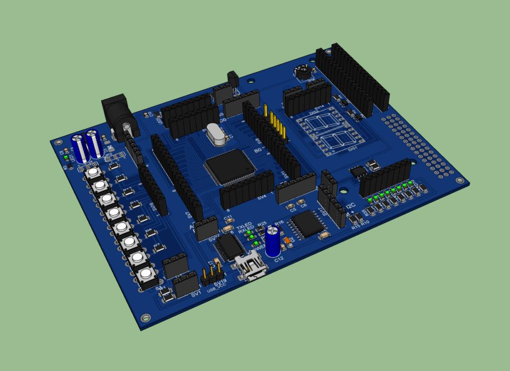 Electronic Project Board : Atmega development board electronics lab