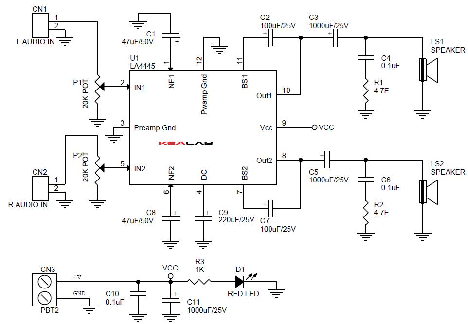 5.5W_2_Channel_Audio_Amplifier_Schematic