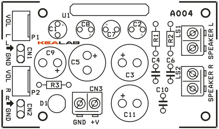 5 5w - 2 channel audio amplifier