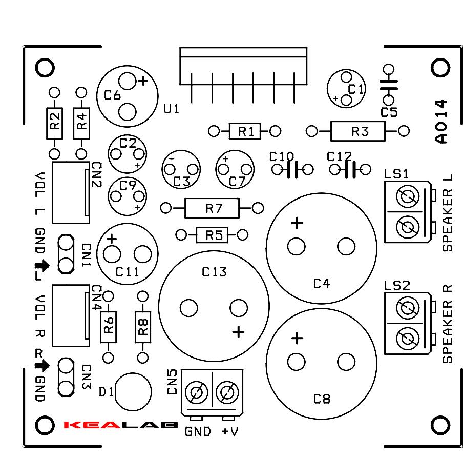 6 5w stereo audio amplifier