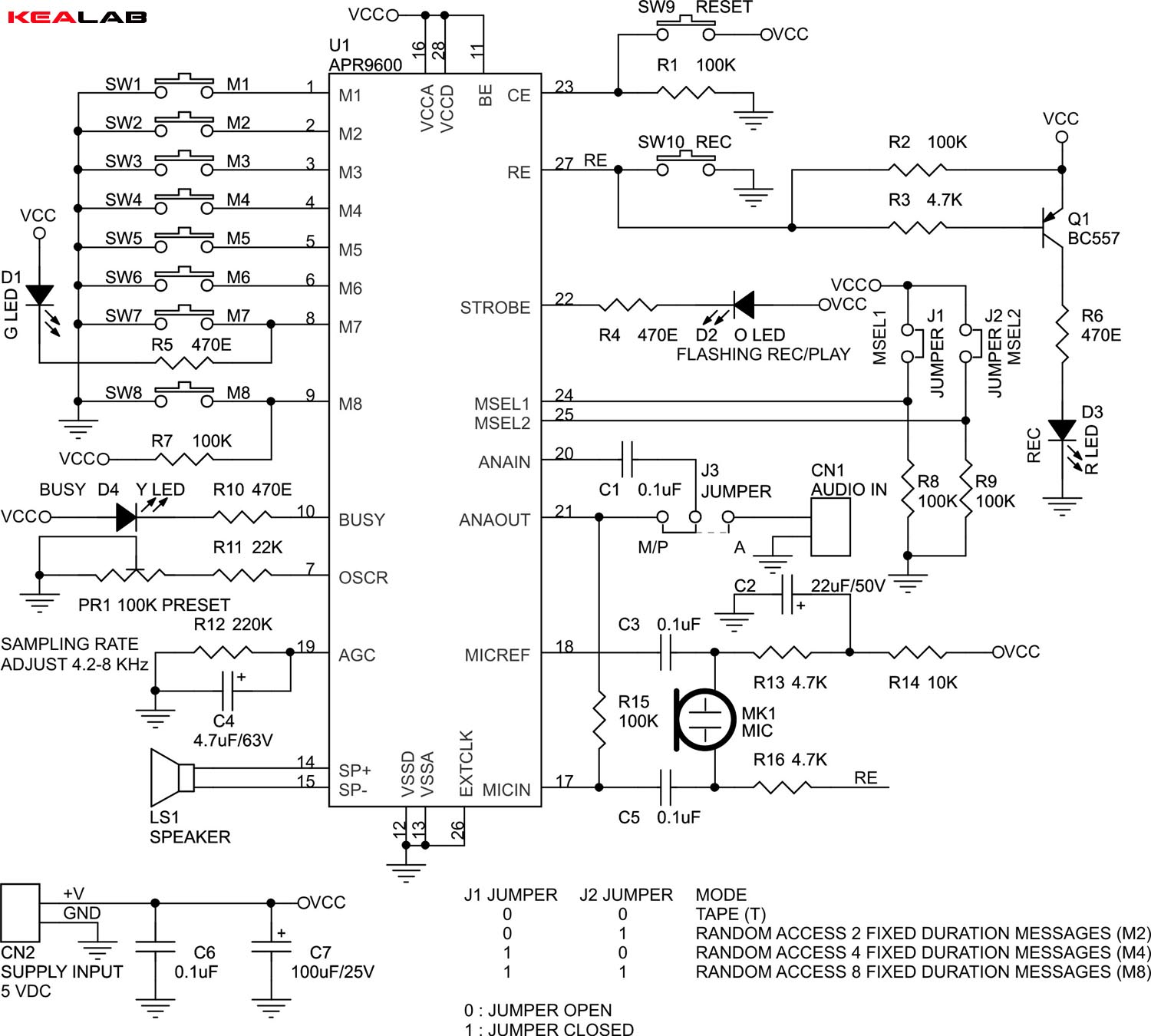 60 Seconds Voice Record Playback Module Electronics Lab Diy Projectscircuit Schematics Diagrams And Projects Schematic