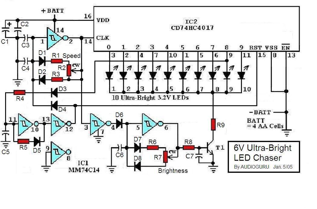 6v Ultra-bright Led Chaser