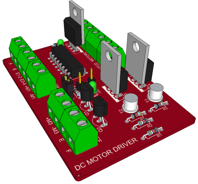 Dc Motor Driver Using L293d Electronics Lab