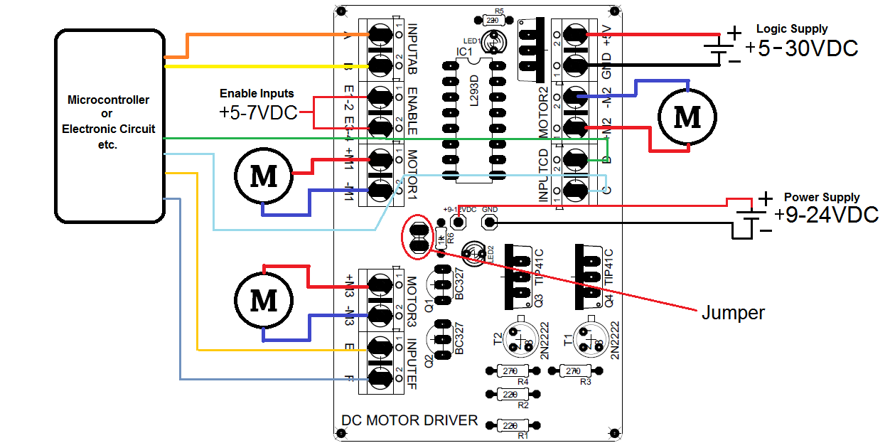 how to use l293d motor driver