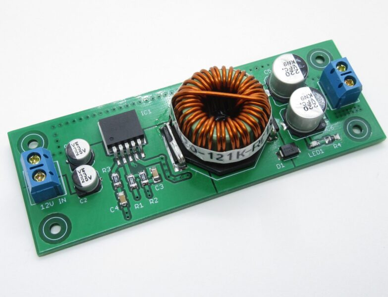 12V to 24V @ 1A Step-up switching regulator using LM2585