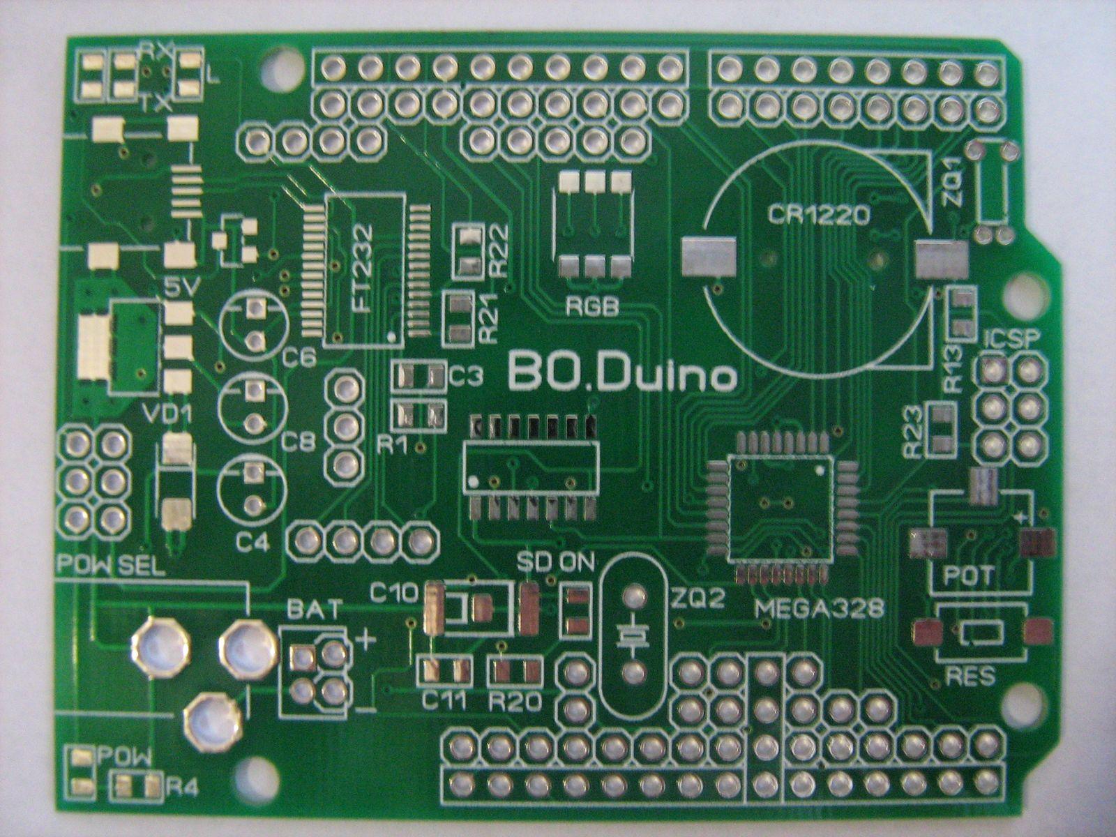 Boduino Atmega328 Arduino Compatible Board Electronics Lab Ft232rl Programming Img 0650