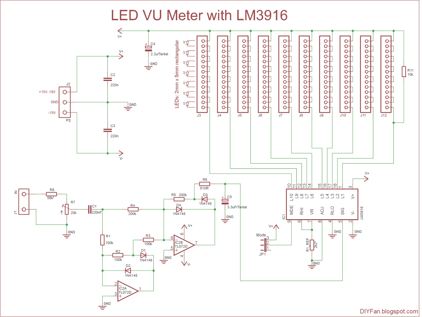 Led Vu Meter Schematic on Led Driver Circuit Diagram