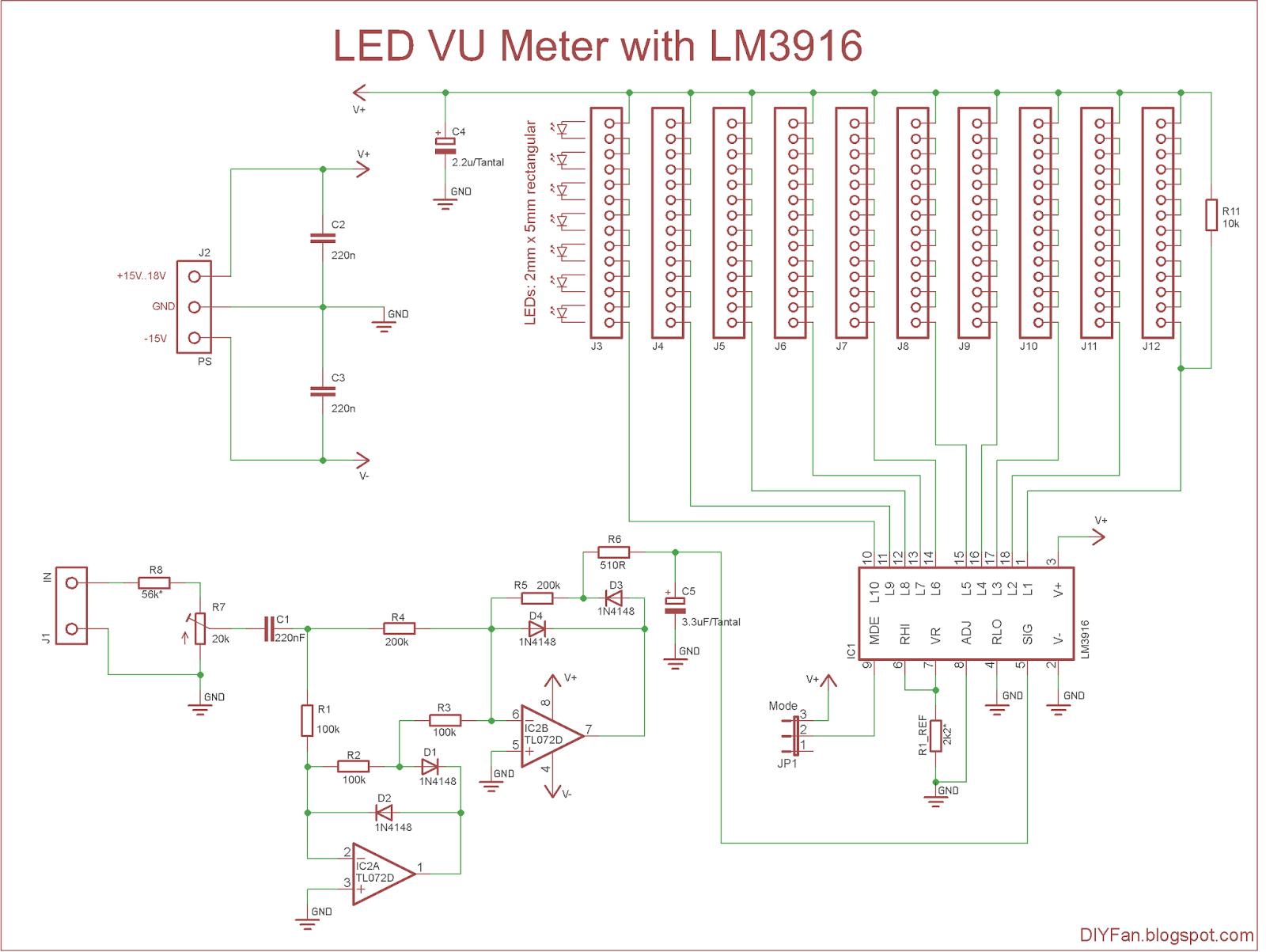 Lm3915 Vu Meter Pcb Layout
