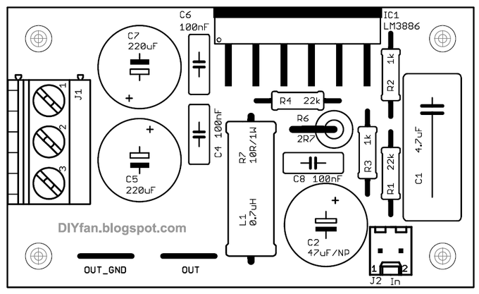 Lm Top Parts Th on Lm3886 Amplifier Circuit