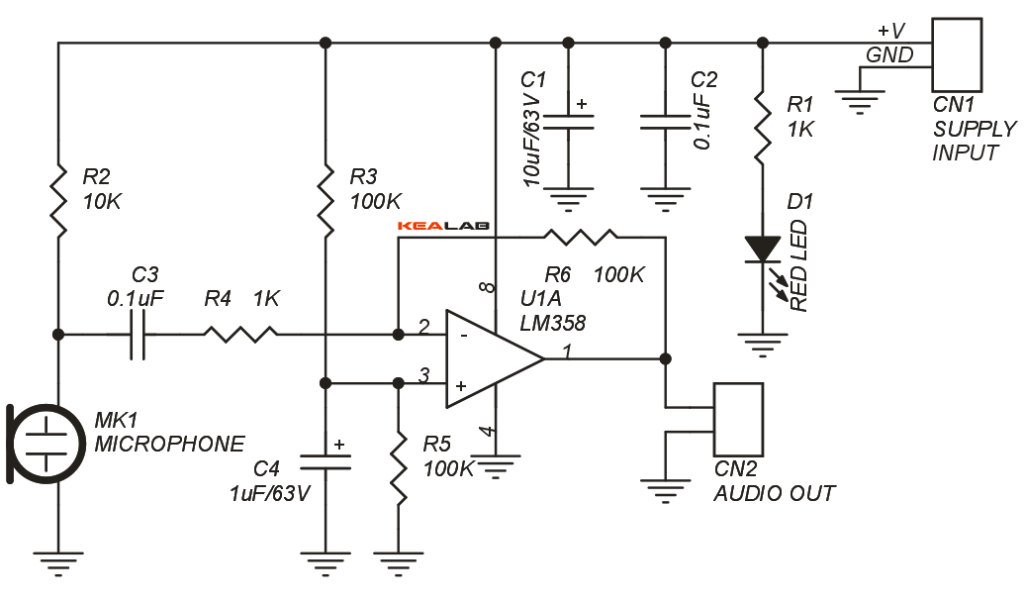 Transformerless Microphone Preamplifier Circuit Diagram Tradeofic