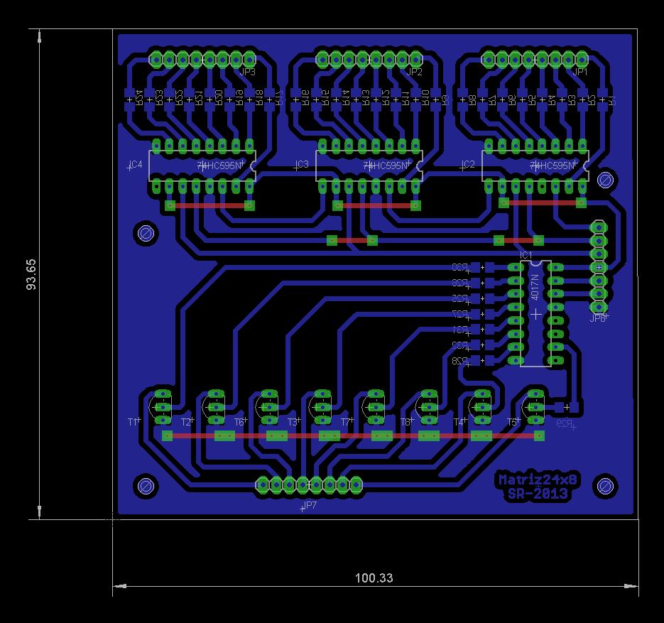 24x6 Led Matrix Control Circuit Electronics Lab Image Pcb Board Download