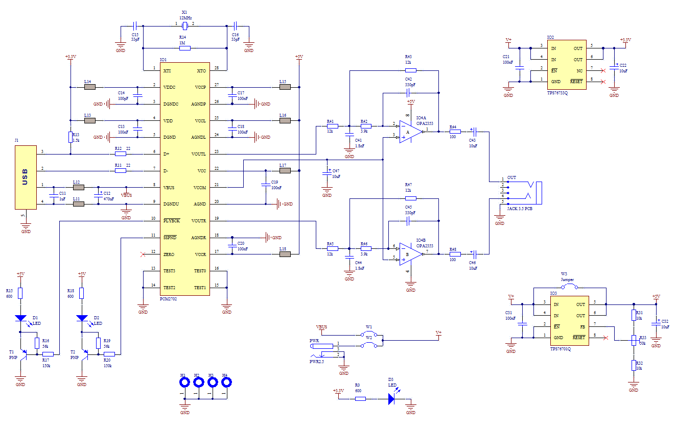 Usb Sound Card With Pcm2702 Electronics Lab Free Circuit Diagrams Low Cost Digital Volume Control Amplifier Schematic