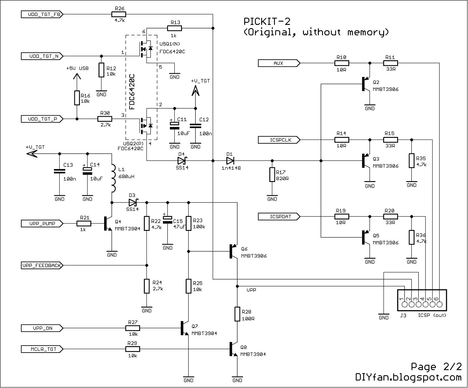 Pickit 2 Programmer Circuit Diagram   Pickit 2 Circuit Diagram Wiring Library