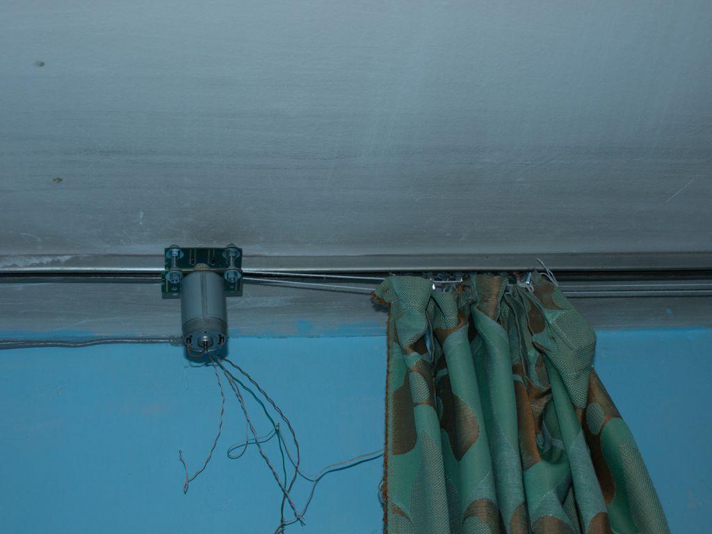 Электропривод шторами своими руками 414