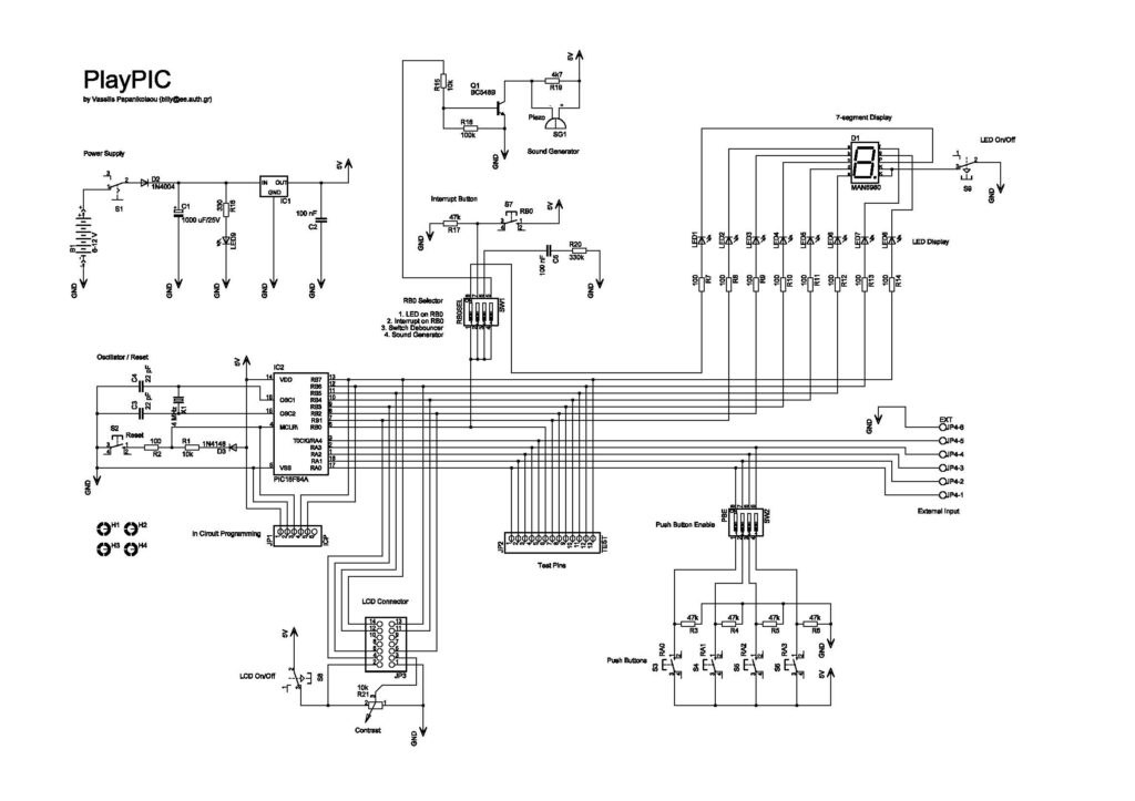 PlayPIC Schematic