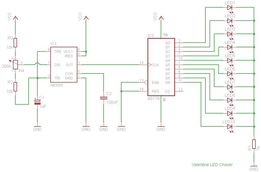 Valentine LED Chaser - Electronics-Lab