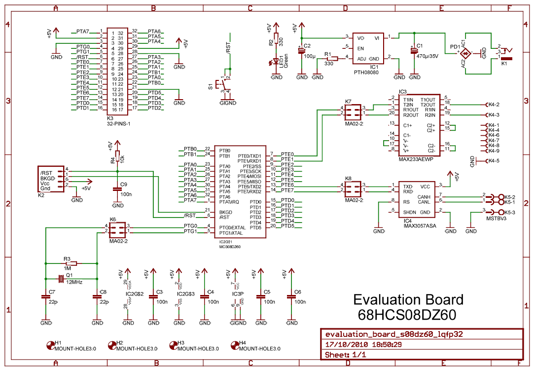 how to build a can transceiver circuit with an mcp2551