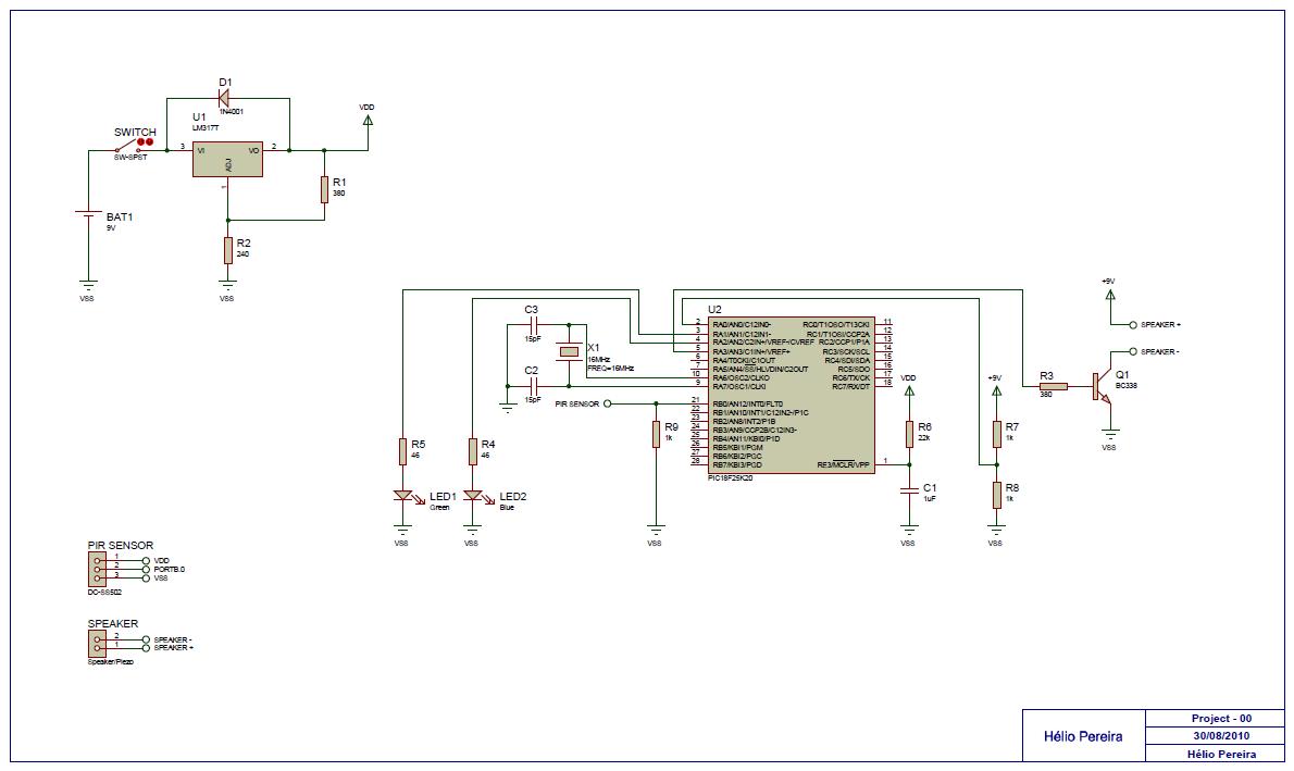 pir motion sensor - electronics-lab pir schematic