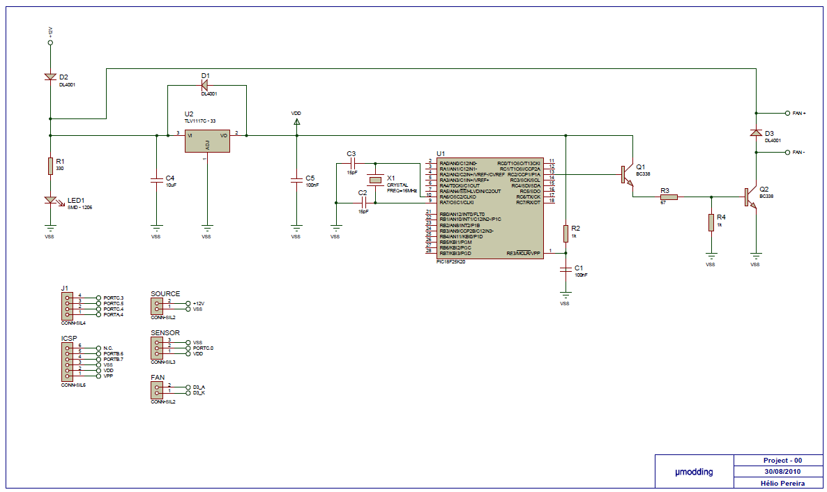Pic Pwm Fan Controller Electronics Lab