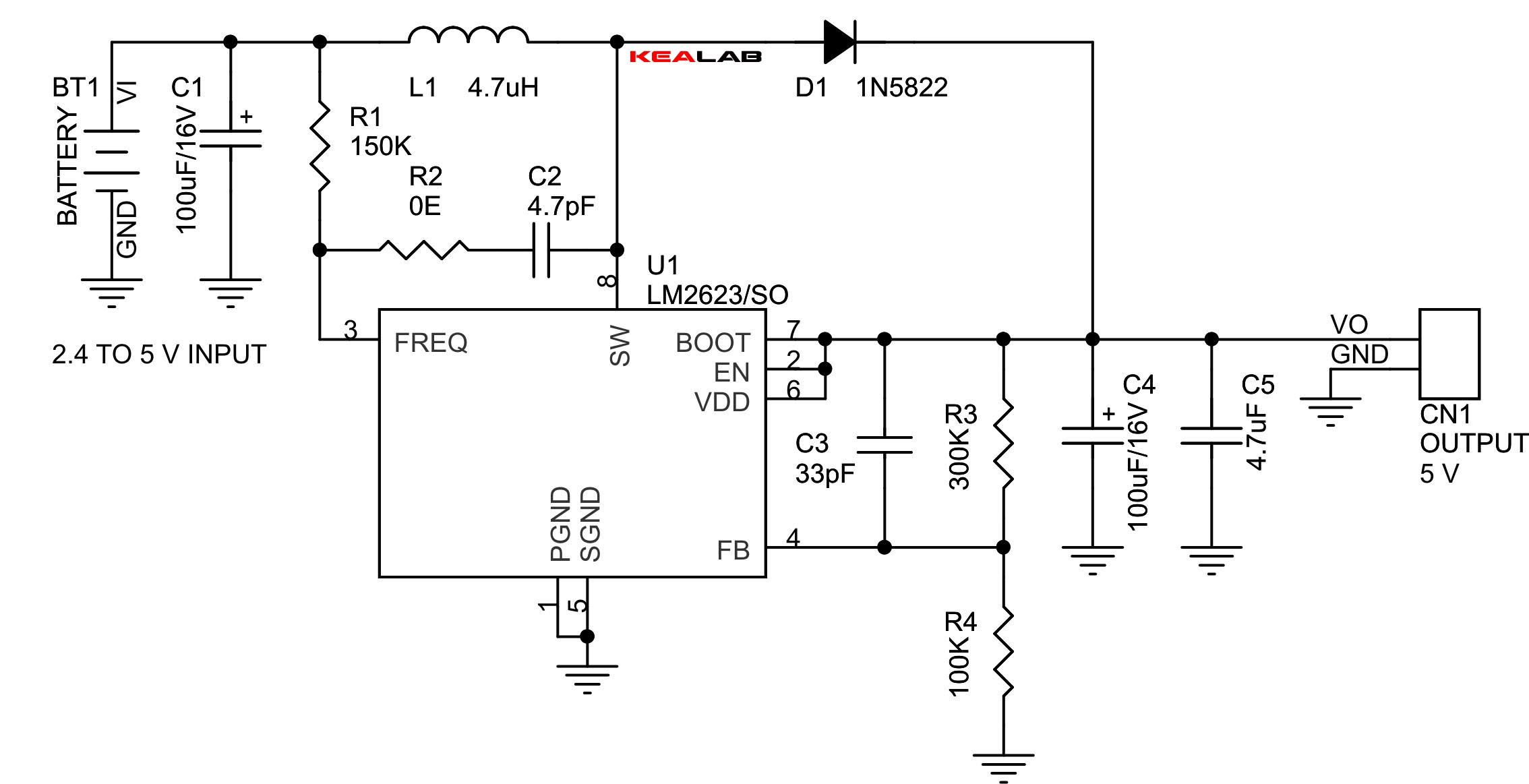 Dc To Converter Circuit Diagram Step Up Diy Enthusiasts Wiring Frequency 2 4v 5v Electronics Lab Rh Com Pdf