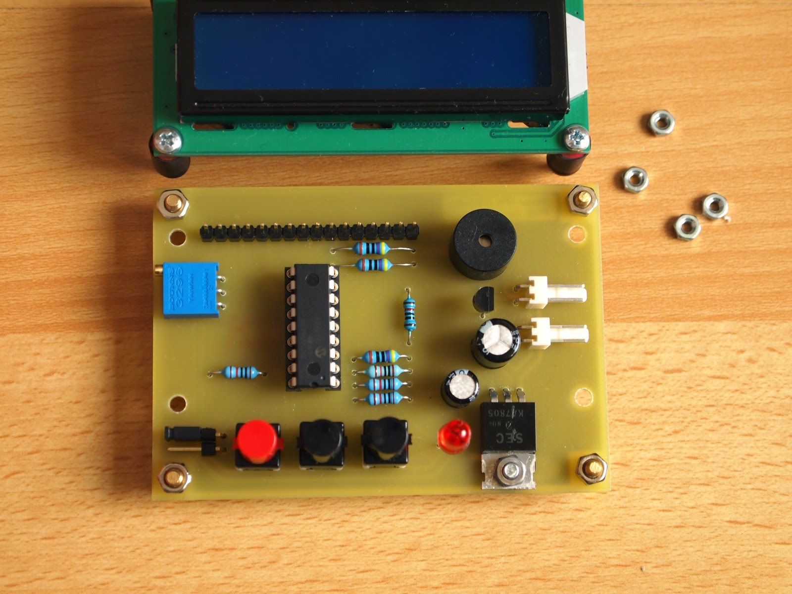 Simple Timer With Pic16f628a Electronics Lab Electronic Circuit Photo 3
