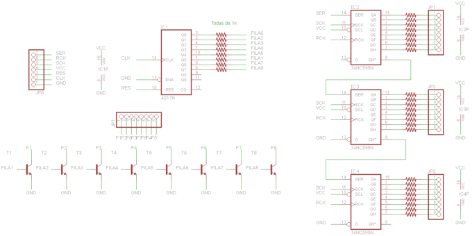Led Matrix Schematic Diagram - Wiring Diagrams User