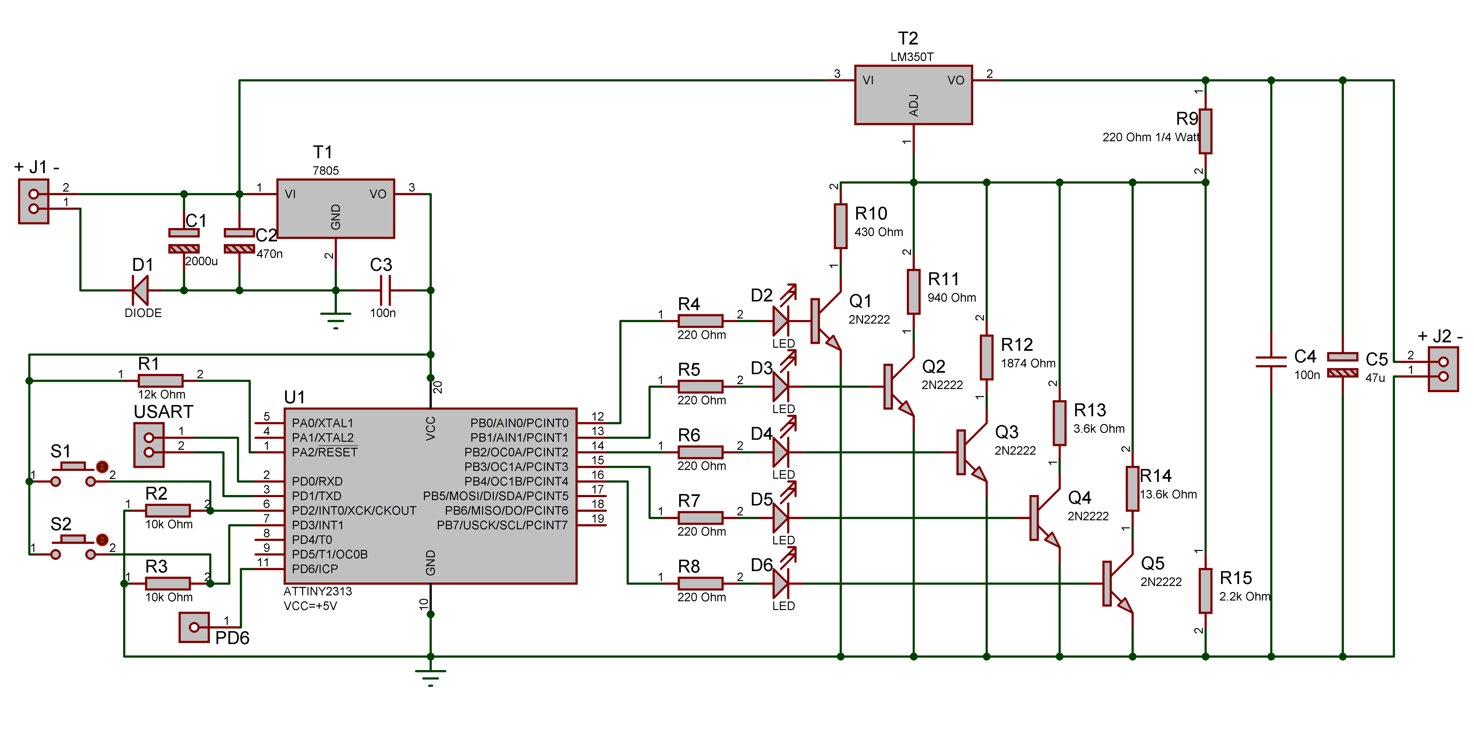 Digital Multiple Voltage Power Supply Electronics Lab Cord Schematic