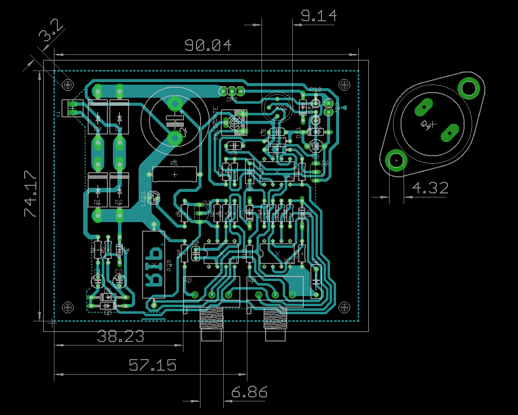 0 30v Laboratory Power Supply Electronics Lab Simple 8amp Regulated Circuit Diagram Pcb