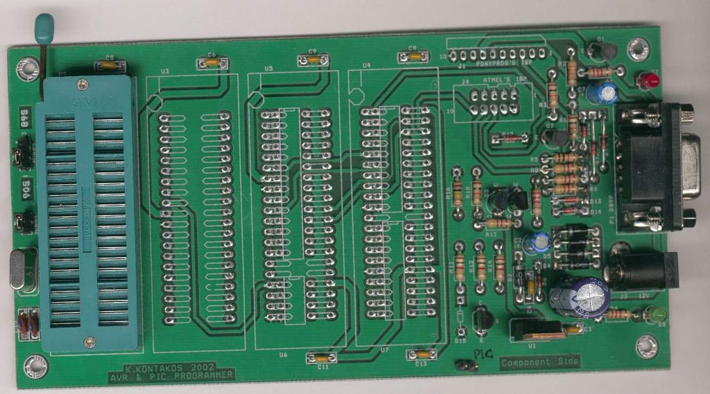 Ponyprog Circuit for AVR & PIC16F84