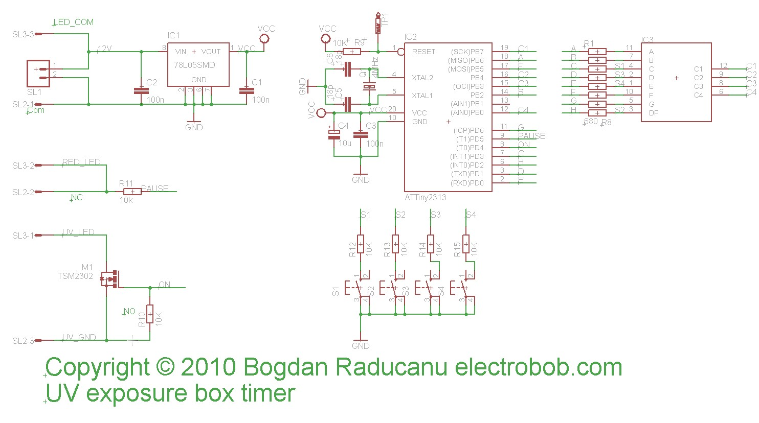 Led Uv Exposure Box Electronics Lab 5 Circuit Diagram Schematic The Connection Of Lid Switch And Arrays Is Shown Below