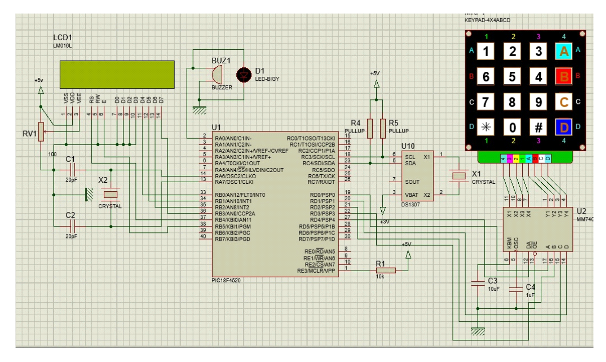 Automatic School Bell Electronics Lab Schematic Hex Pcb