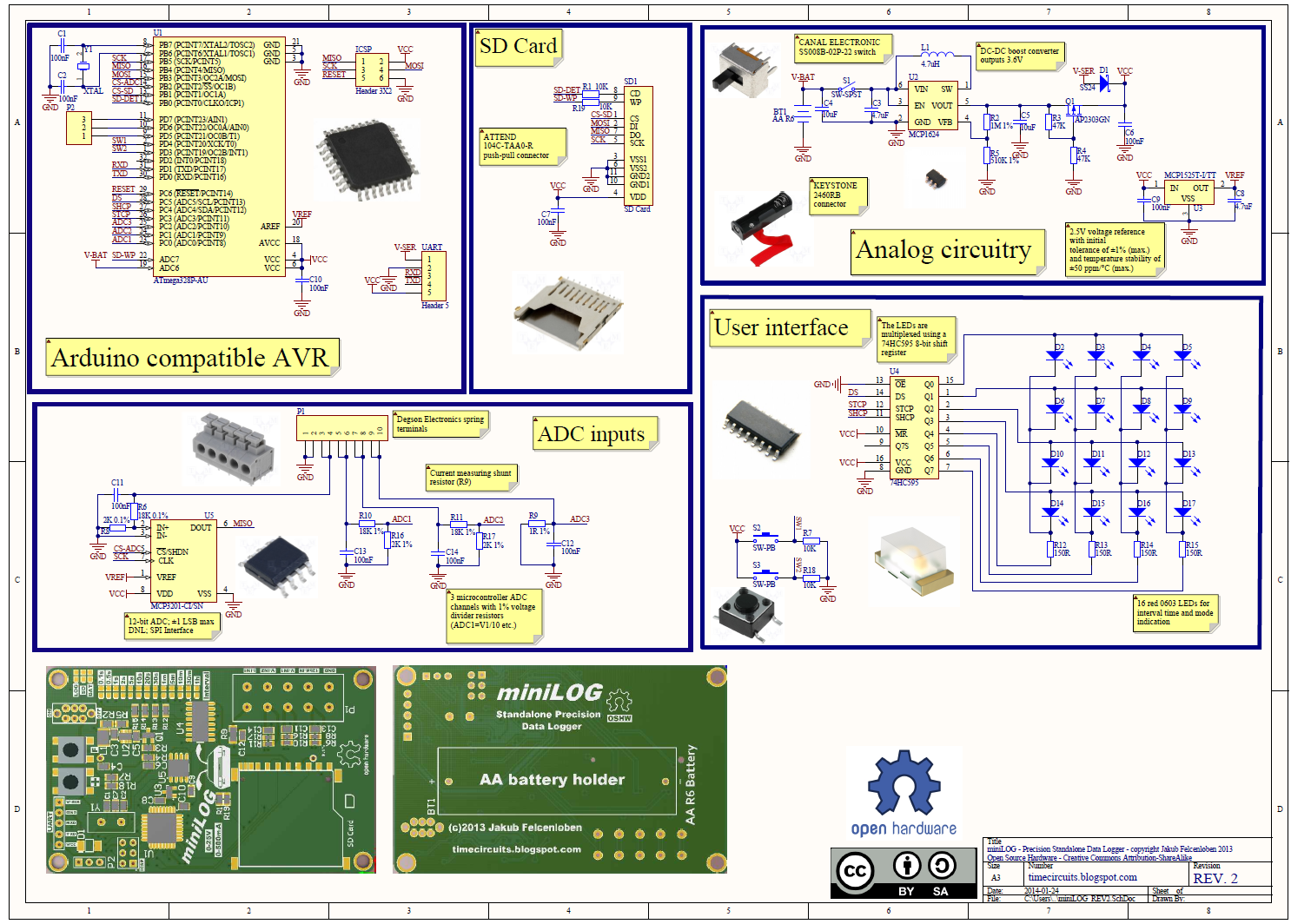 Minilog Precision Standalone Voltage Logger Electronics Lab The Project Is A Simple 12bit 8channel Analog To Digital Converter Schematic