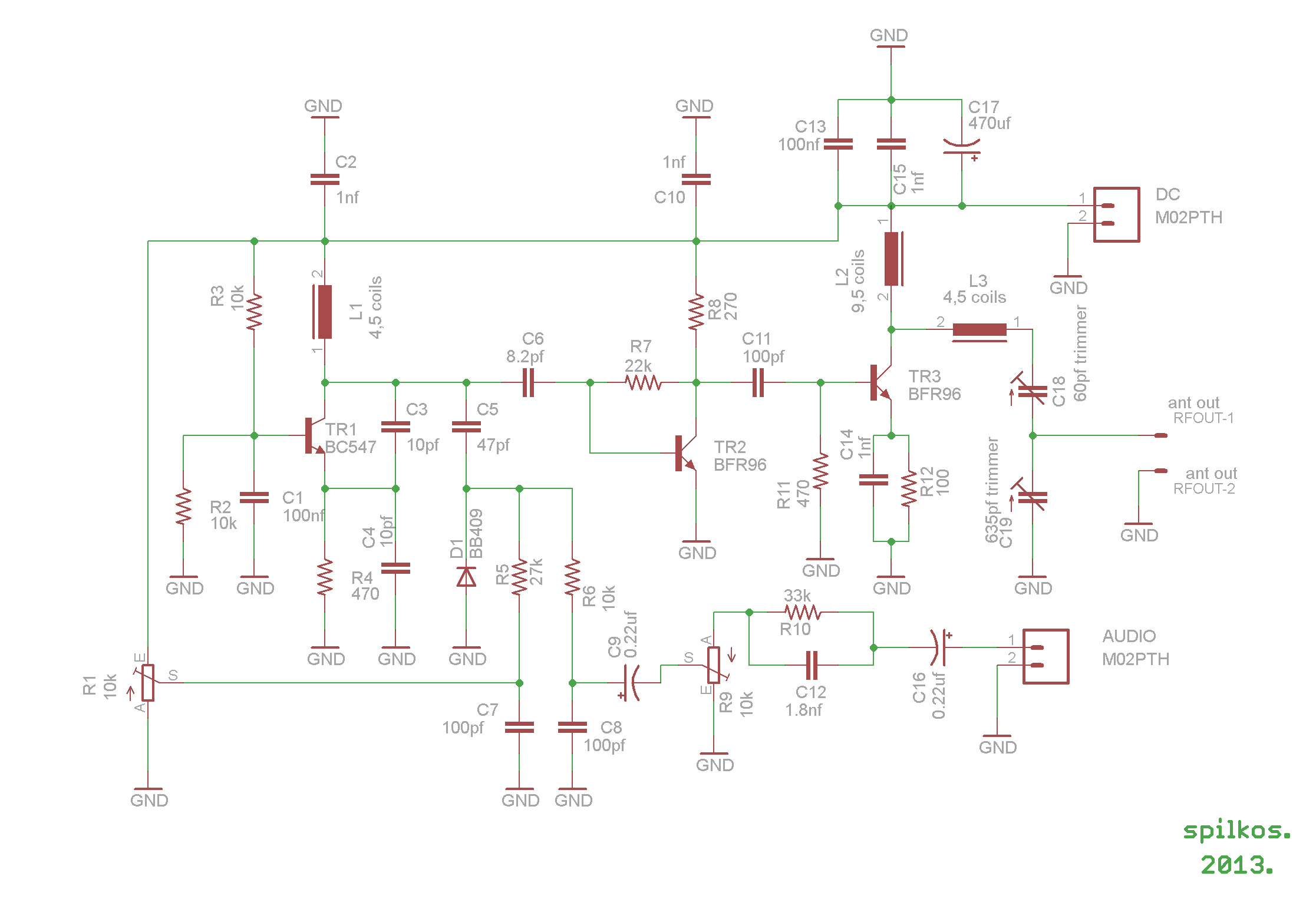 Mini Mw Transmitter Circuit Diagram