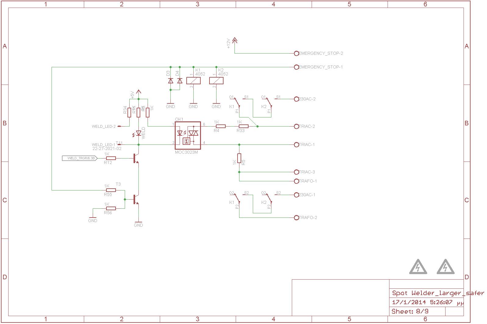 Weld transformer controll