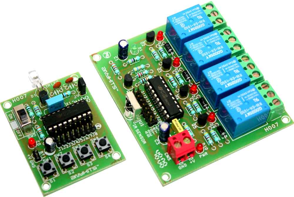 4 channel infrared remote relays