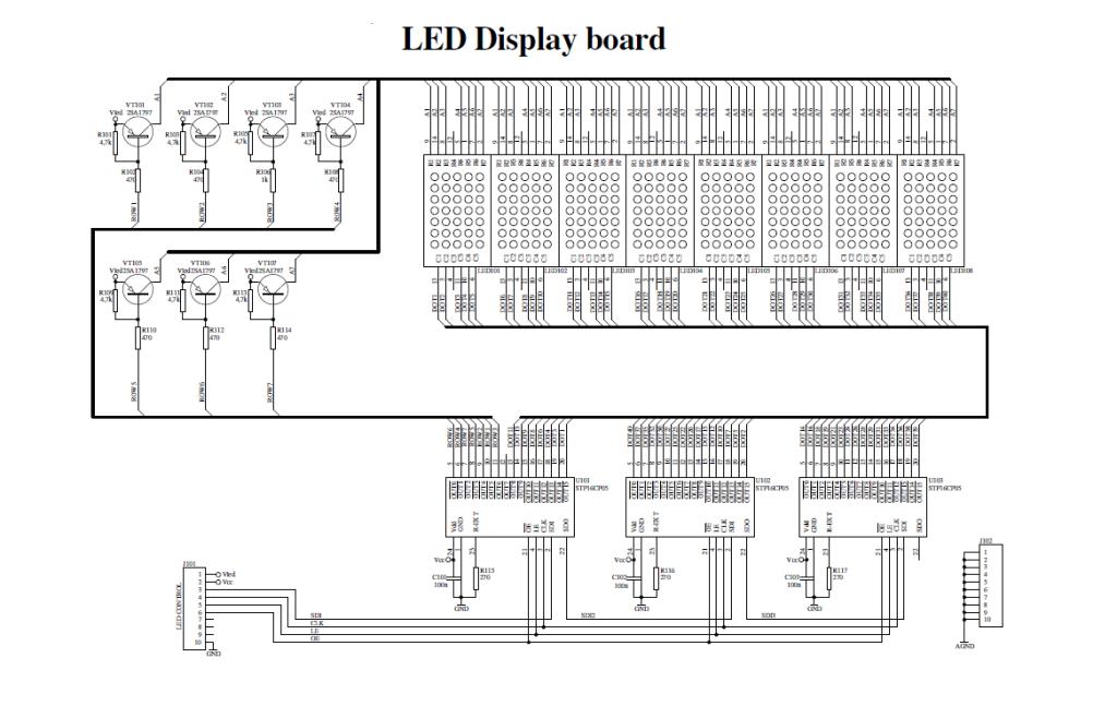 Dot Matrix Led Running Display V2 0 Electronics Lab