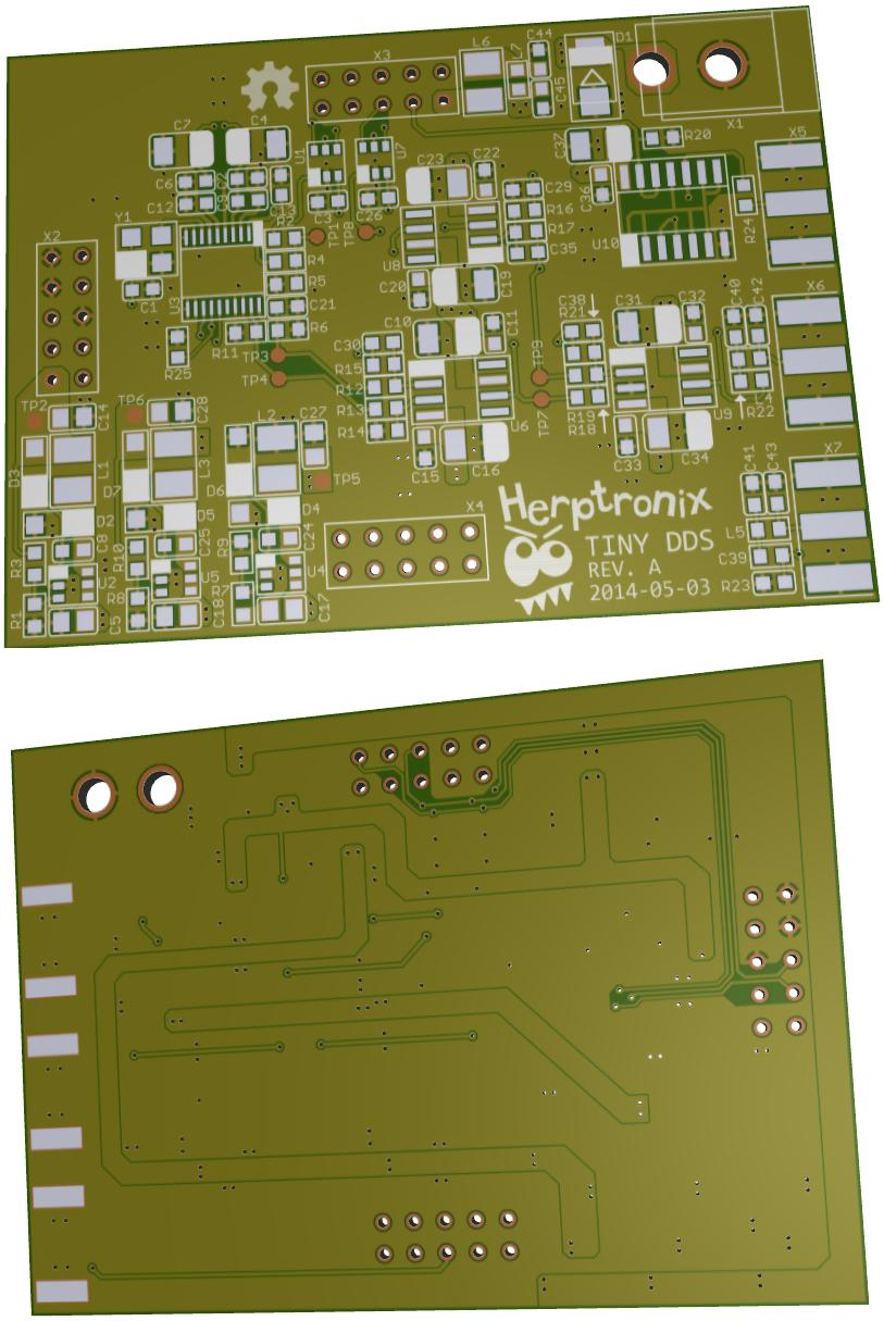 Tiny Dds Open Source Generator Electronics Lab Max038 Pcb 3d