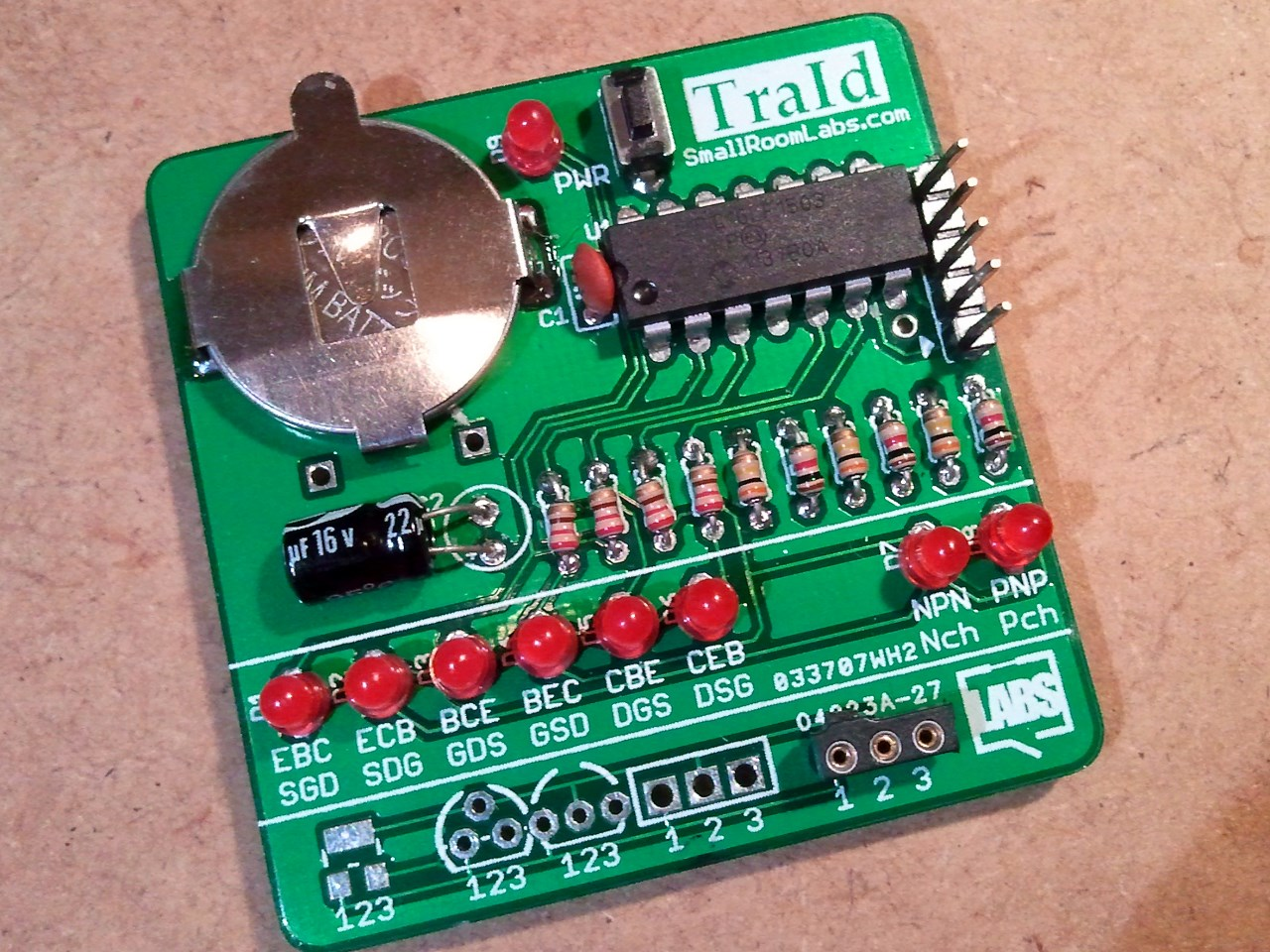 Traid Transistor Type Polarity Identifier Electronics Lab Circuit Is A Simple Tester And Pinout It Able To Test Bipolar Transistors As Well N Mosfet P