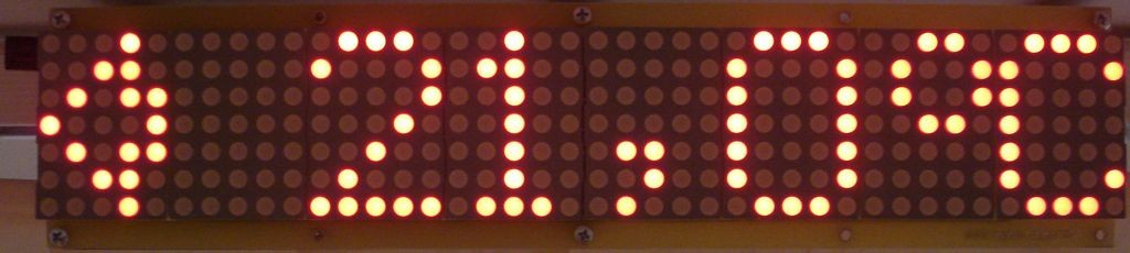 Dot matrix LED running display v2.0