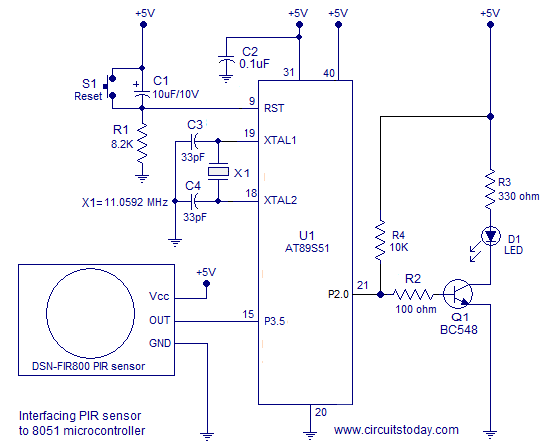 interfacing-PIR-sensor-to-8051