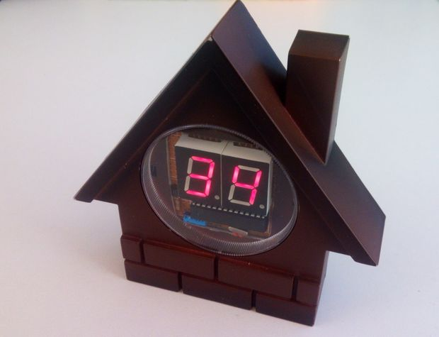 Seven Segment Display Arduino Thermometer