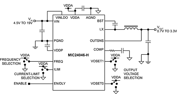 Buck converter is pin-programmable